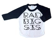 Rad Big Sis Tee, Rad Big Sister, Sister Shirts, Big Sister Shirt, Big Sis, Trendy kids clothes, Hipster kids clothes, Onesie, T-Shirt, Tee