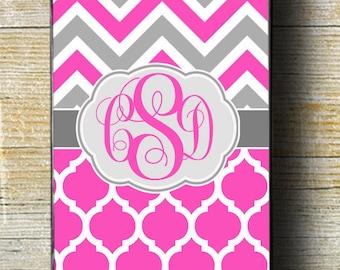 Monogram iPhone 6s Case, Pink iPhone 6 plus case, Pink Chevron iPhone 6 Case, Pink Chevron iPhone 5c case, Pink Monogram iPhone 5 Case