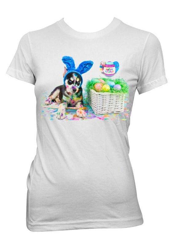 Kids easter gift shirt custom personalized husky dog shirt for Custom personal trainer shirts