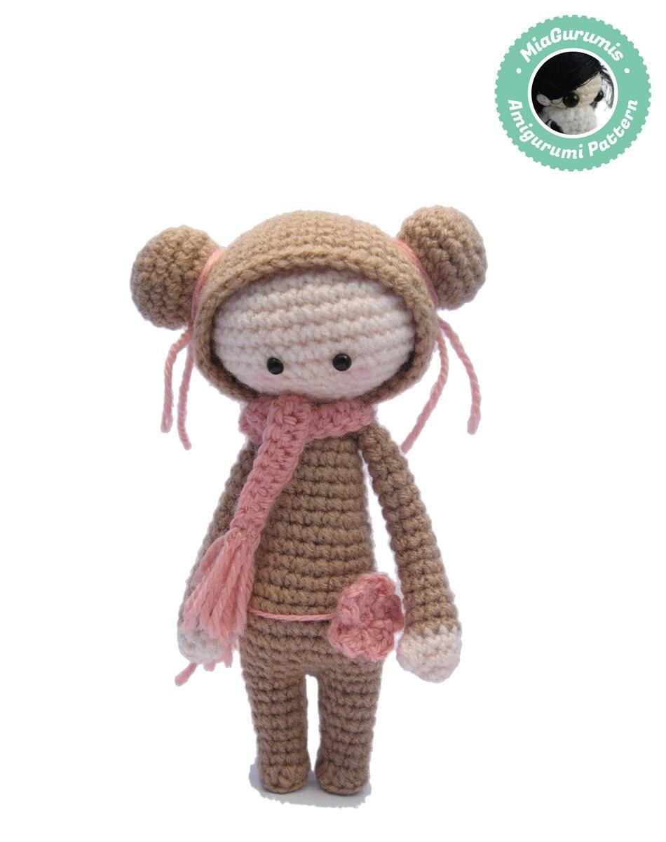 Crochet Amigurumi Doll Clothes : Crochet amigurumi pattern Doll amigurumi Doll pattern