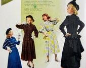 1948 Carole King Junior Dresses Vintage Advertisement Bedroom Wall Art Bathroom Womens Fashion Decor Original Magazine Print Ad Ephemera
