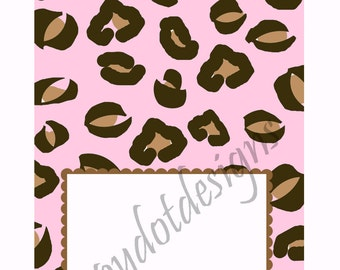 Printable Pink Leopard Baby Shower Table Tent Cards