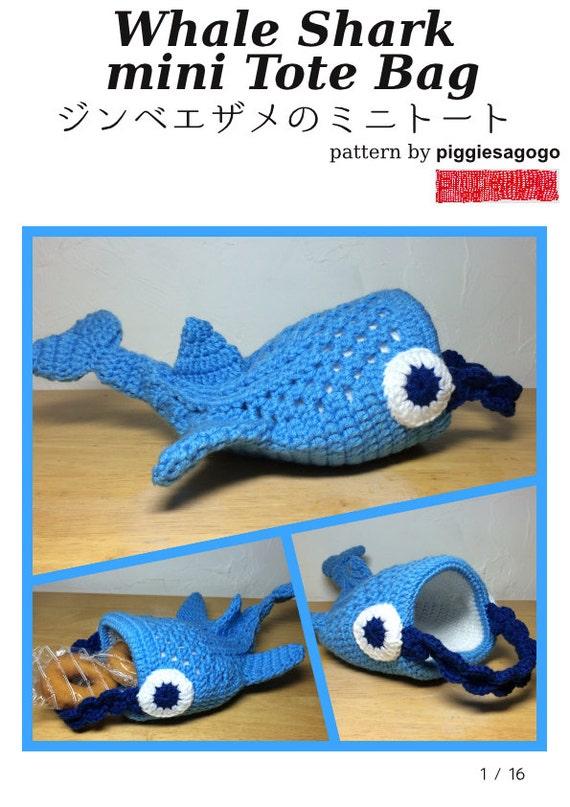 Whale Shark Amigurumi : Whale Shark mini Tote Bag Crochet Pattern from ...