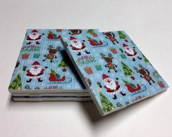 Christmas Coasters - Christmas Decor - Christmas Decorations - Drink Coasters - Tile Coasters - Ceramic Coasters - Table Coasters