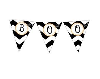 Boo Halloween Banner, Boo Halloween sign, halloween party decoration, Halloween sign, Halloween decorations, printable halloween decorations