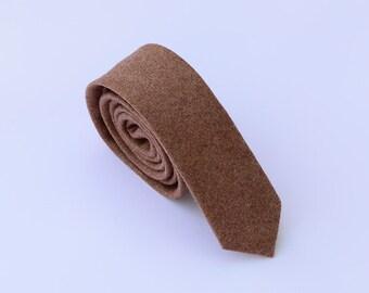Wool Ties.Brown Wool Neckties.Mens Ties,Business Ties.Slim Ties