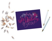 a very merry un-birthday to you greeting card // just because greeting card // funny greeting card // silly greeting card