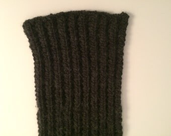 Knit Black Scarf