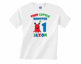 Personalized birthday shirt. ANY AGE! Monster birthday shirt. Kids birthday shirt. 1st birthday shirt. First birthday. Pink pig printing