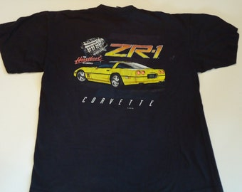 80s Graphic T Shirt Corvette ZR-1 Size Large- XL