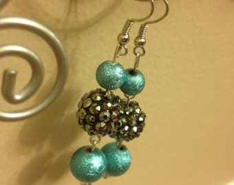 FREE SHIPPING!!! Turqouise and Silver Dangles 1