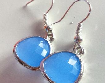 Periwinkle Blue briolette Earrings