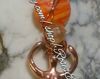 Carnelian Goddess Amulet Ooak
