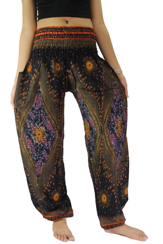Boho Clothing Plus Size Pants Plus size pants black