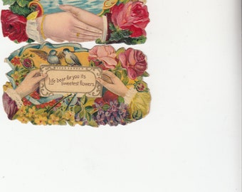 Beautiful And Authentic,6 Heavily Embossed Calling Cards,C1900, Lots Of Possibilties