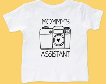 Mommy's Assistant Bodysuit or T-Shirt // Photographer Camera Shirt