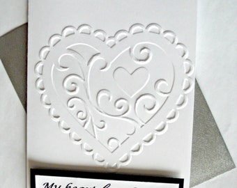 Valentines Day Card, Romantic Valentines Day, Valentines Card for Wife, Valentines Day Card husband, Heart Card, Love card, Anniversary card