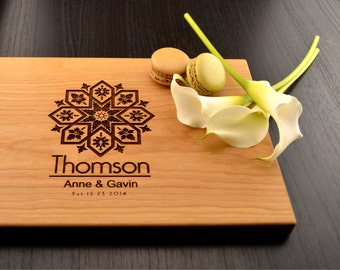 Personalized Cutting Board, Custom Wedding Gift, Engagement Gift, Engraved Wooden Block, Anniversary Gift, Housewarming Gift, Hostess Gift