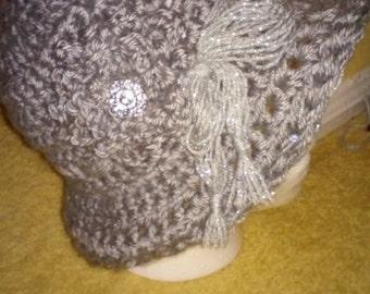 crochet grey womens fashion hat