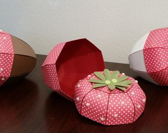 Strawberry Favor Box/Valentine's Day Gifts/Strawberry Shortcake/Party Favors