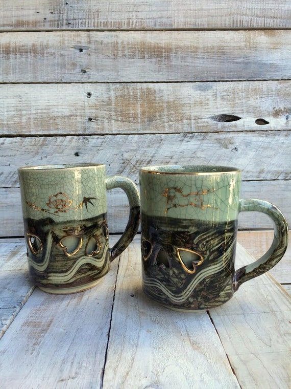 his and hers mugs set of coffee mugs japanese by. Black Bedroom Furniture Sets. Home Design Ideas