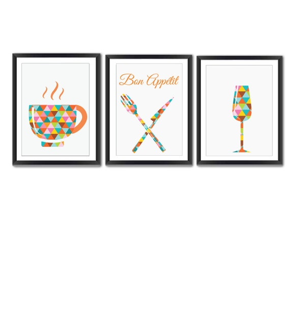 kitchen wall art kitchen wall decor kitchen print set by