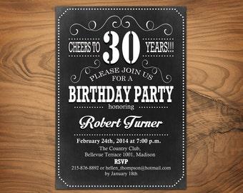 30th birthday invitation   etsy, Birthday invitations