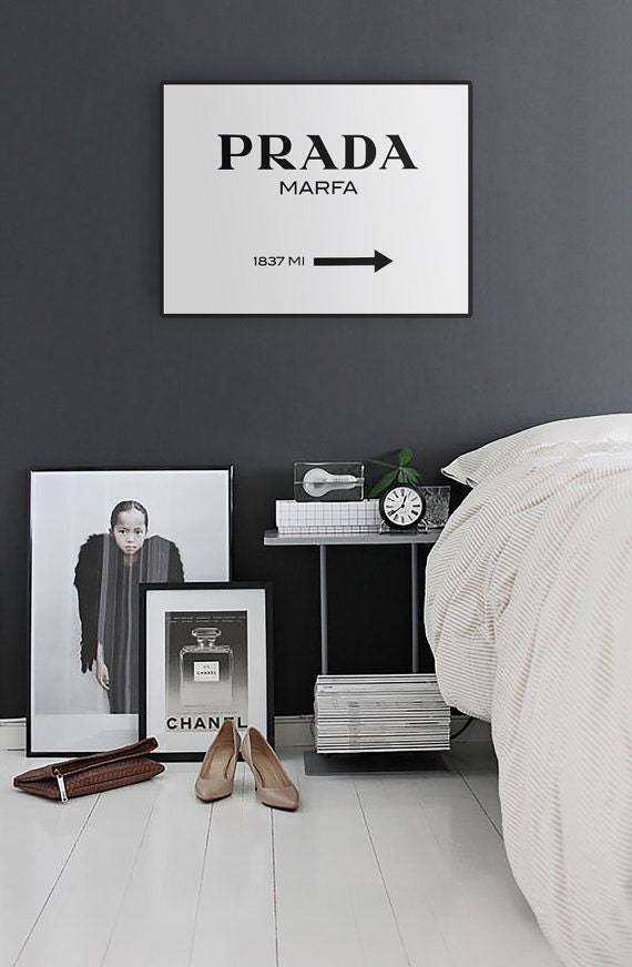 prada marfa print it yourself poster 30x40. Black Bedroom Furniture Sets. Home Design Ideas