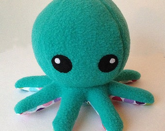 Cuddly Fleece Octopus Plush - Teal