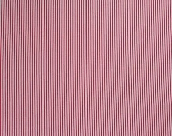 Red And White Striped Fitted Crib Sheet Toddler Bedding