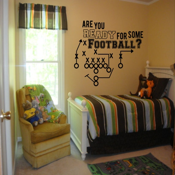 Are You Ready For Some Football Decal Boys Room Decor