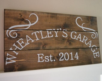 Garage Wood Sign