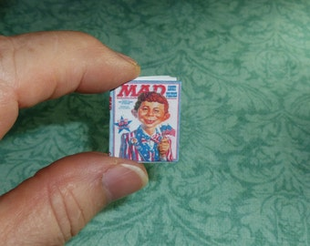 MAD MAGAZINE!  Alfred E Neuman for President!  Dollhouse Miniature Book, 14 Pages of Funny!