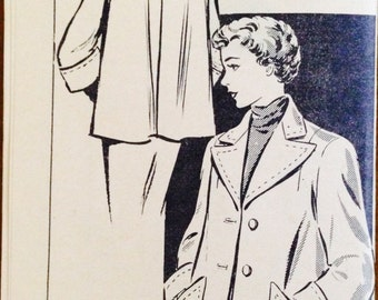 The Kansas City Star Madeline Pattern 2405 - 1950s Short Swing Coat  - Size 14 Bust 32