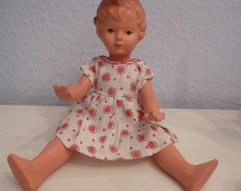 "Vintage German mass doll 1950 Shabby Chic 30 cm / 12 """