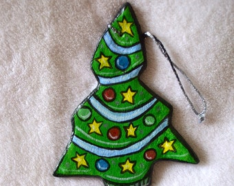 Christmas Tree Salt Dough Ornament