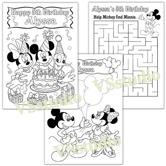 Personalized MICKEY MOUSE Birthday