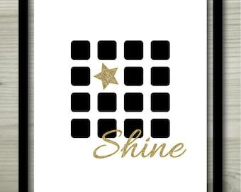 """Printable wall art """"Shine"""" - 8""""X10"""""""