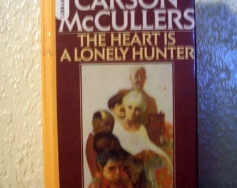 library edition hardcover fiction, The Heart is a Lonely Hunter by Carson McCullers