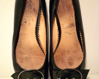 ST CHIC Vintage Handmade Patent Leather Flats - Made in England