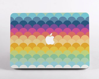 Rainbow Colours Hard Plastic Macbook Case Design for MacBook Pro Retina Display and MacBook Air Case