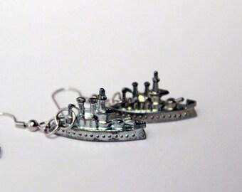 Monopoly Battleship Token Earrings