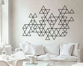Geometric Mid Century Modern Decals - Triangles - Abstract Wall Sticker
