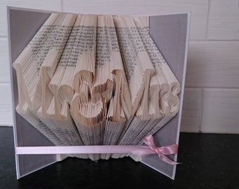"Book Folding Pattern for ""Mr&Mrs"" ~ Wedding~Marriage~Love +FREE TUTORIAL"