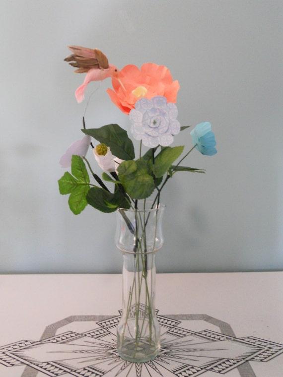 Hummingbird Flower Arrangement Paper Flower Arrangement