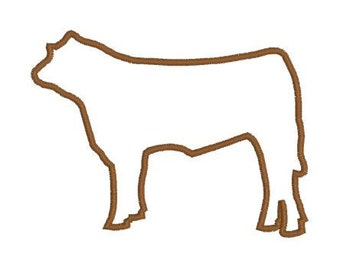 Embroidery Applique File Design Pattern Show Steer Cow