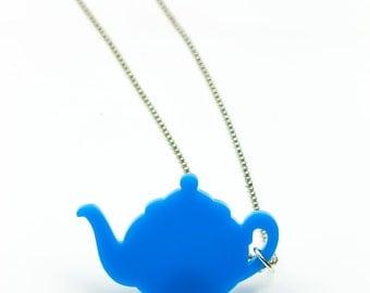 Blue teapot vinyl