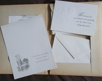 Vintage Inglewood Mortuary Sympathy Stationery Set Funerary Memorial Memento Mori - UNUSED