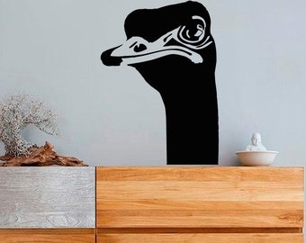 Wall Decals Ostrich Head Animals Home Vinyl Decal Sticker Kids Nursery Baby Room Decor kk525