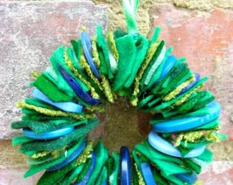 Felt & Button Wreath Craft Kit
